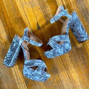 Call It Spring Velvet Heels